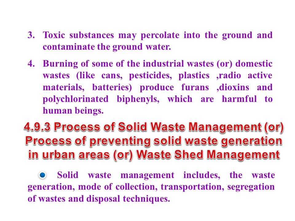 4.9.3 Process of Solid Waste Management (or)