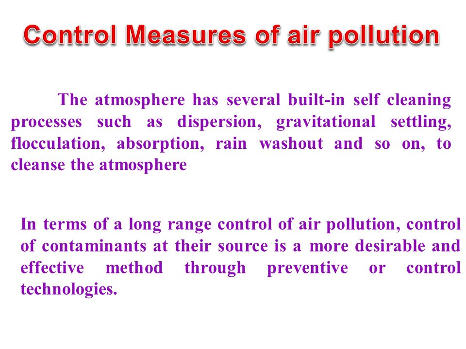 Control Measures of air pollution