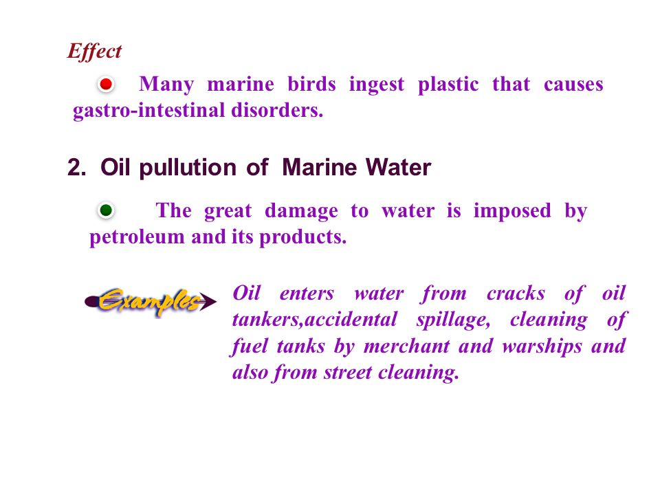 2. Oil pullution of Marine Water