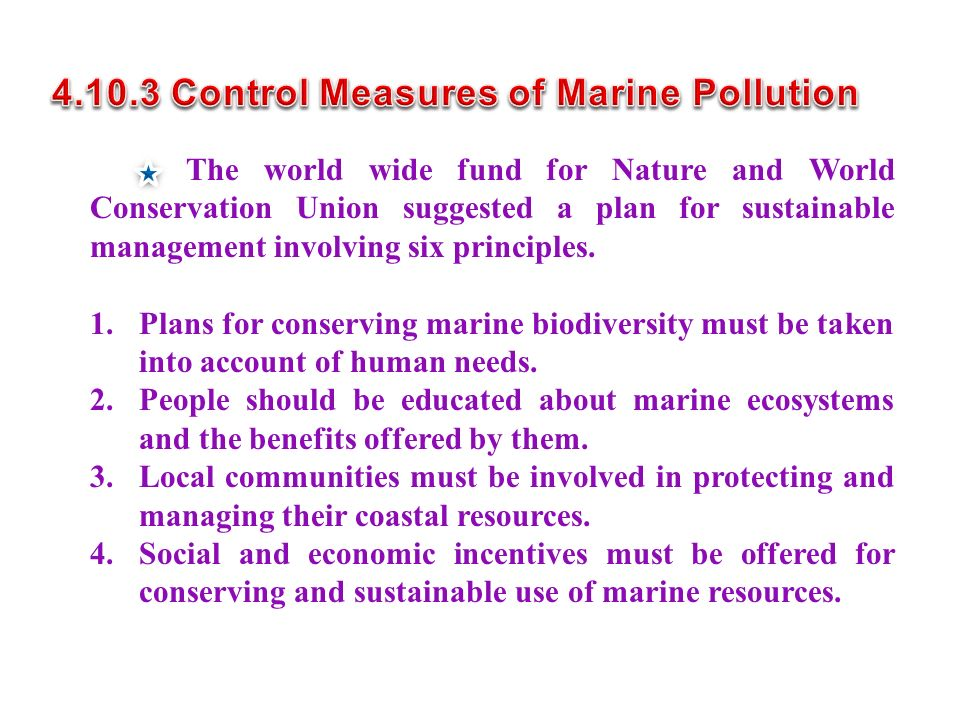 4.10.3 Control Measures of Marine Pollution