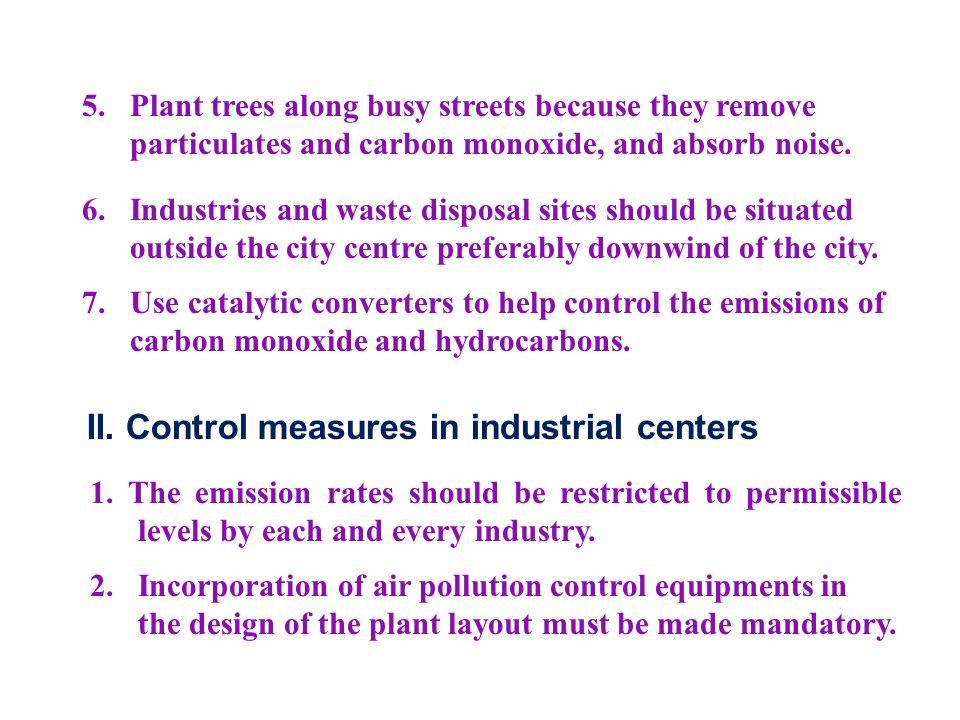II. Control measures in industrial centers