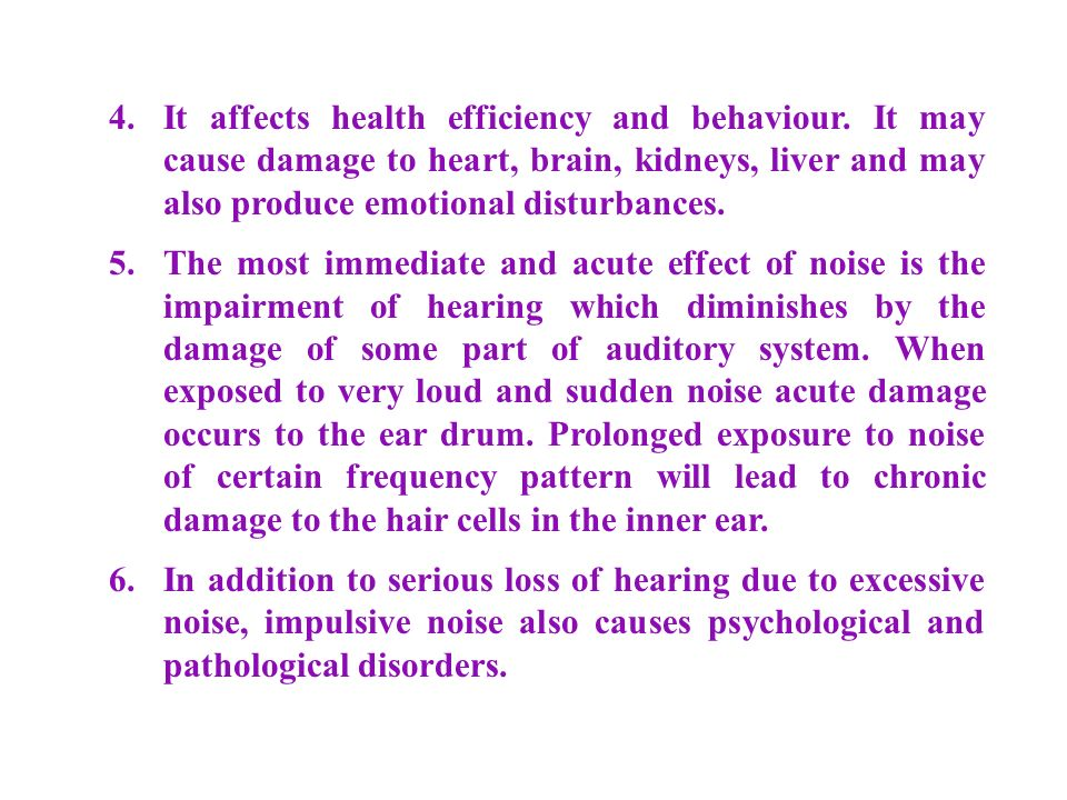 4. It affects health efficiency and behaviour