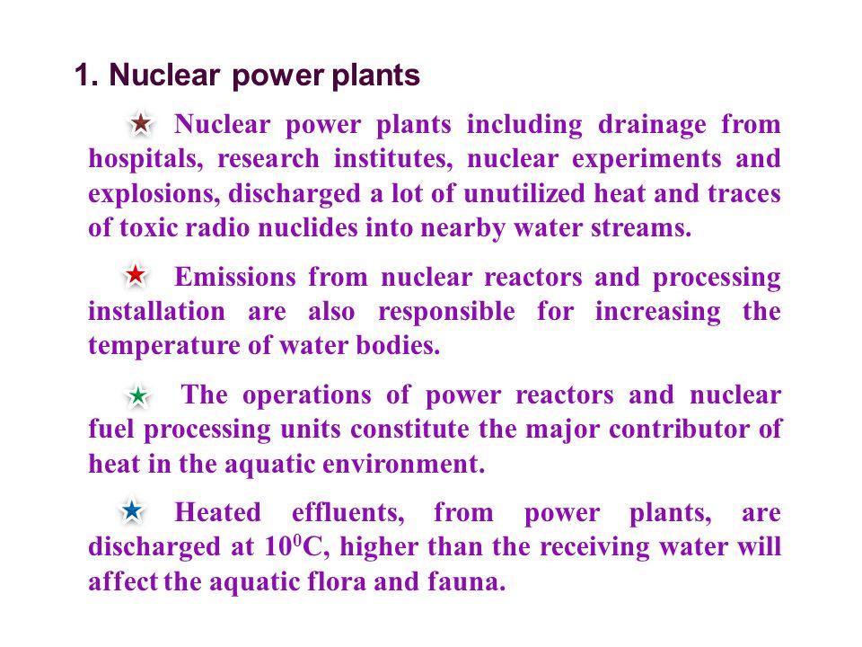 1. Nuclear power plants