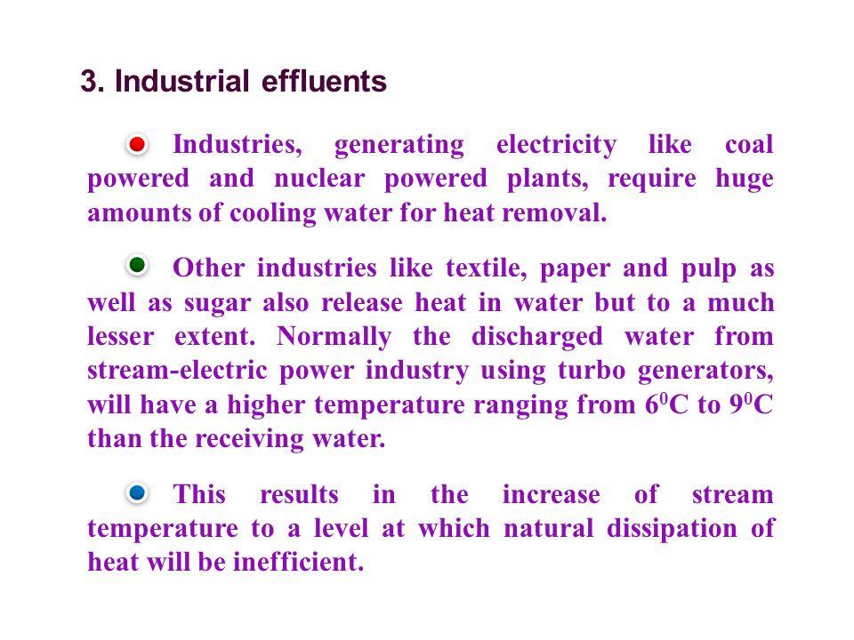3. Industrial effluents
