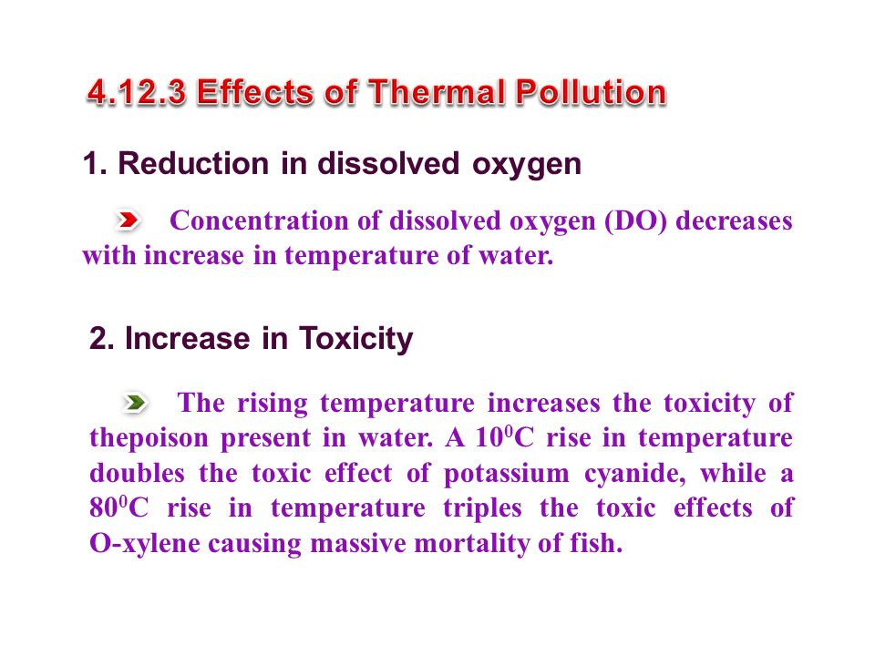 4.12.3 Effects of Thermal Pollution