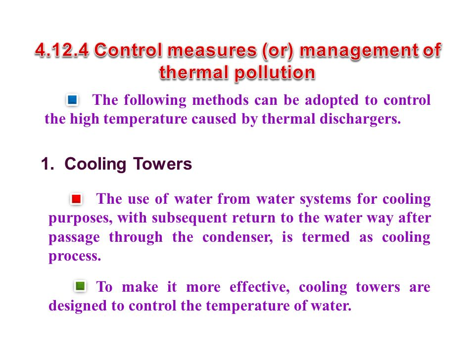 4.12.4 Control measures (or) management of