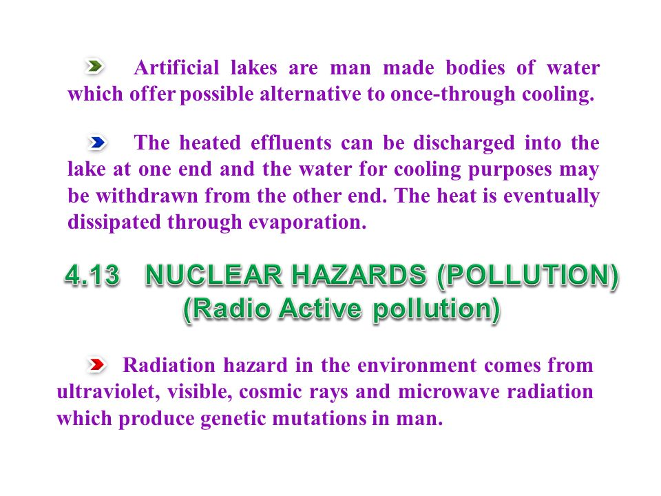4.13 NUCLEAR HAZARDS (POLLUTION) (Radio Active pollution)