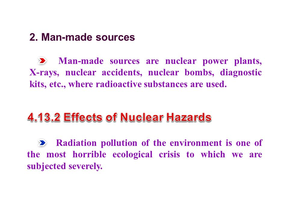4.13.2 Effects of Nuclear Hazards