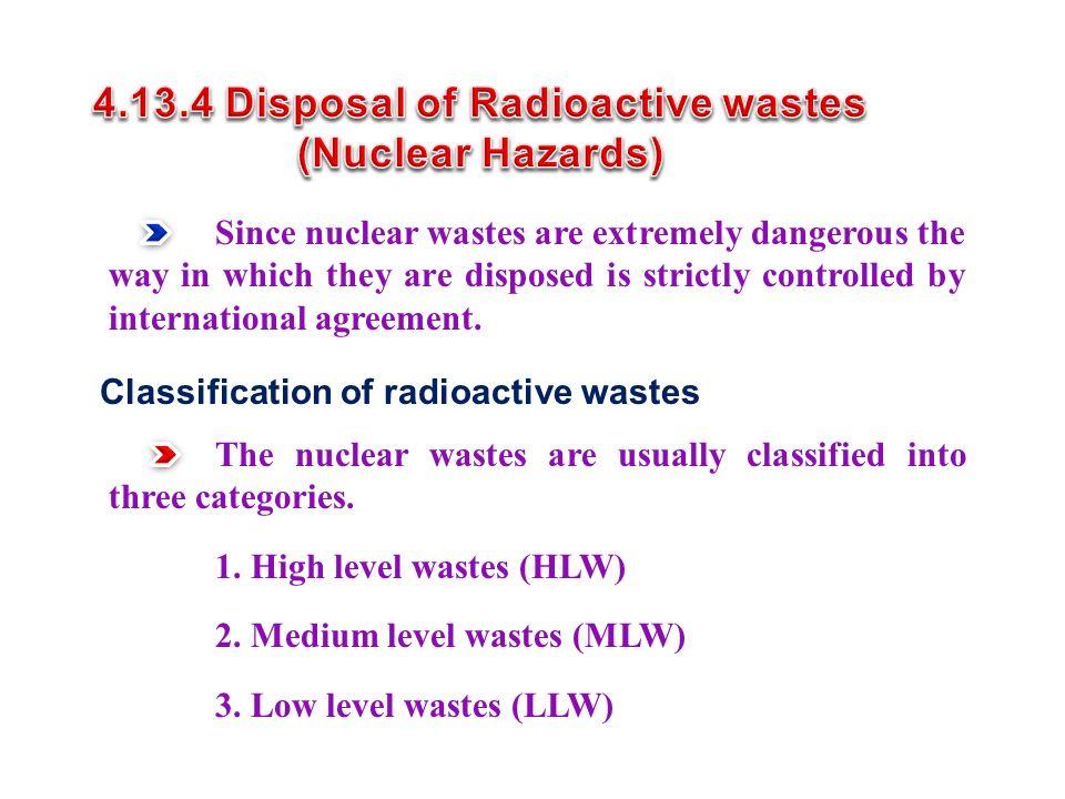 4.13.4 Disposal of Radioactive wastes