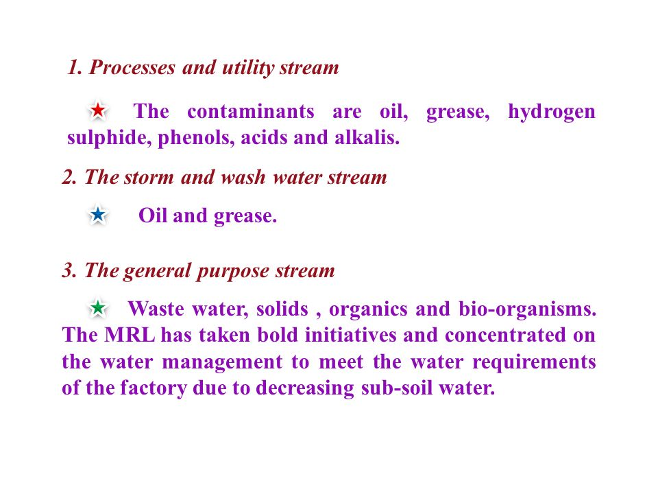 1. Processes and utility stream