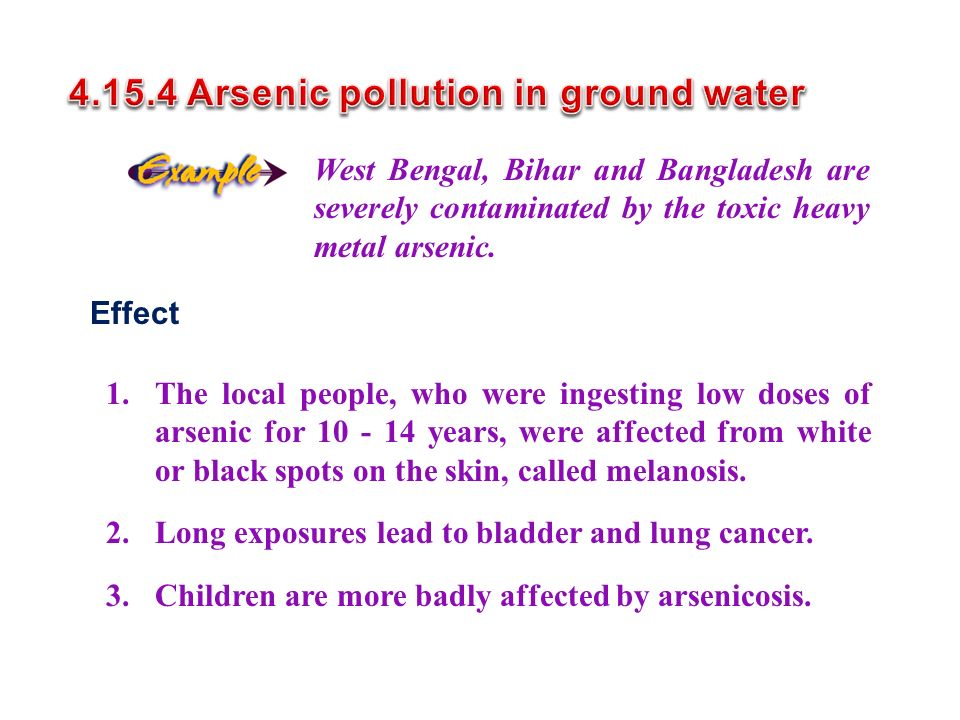 4.15.4 Arsenic pollution in ground water