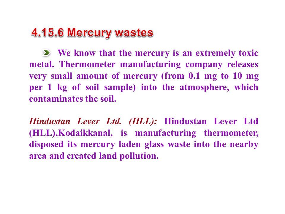4.15.6 Mercury wastes