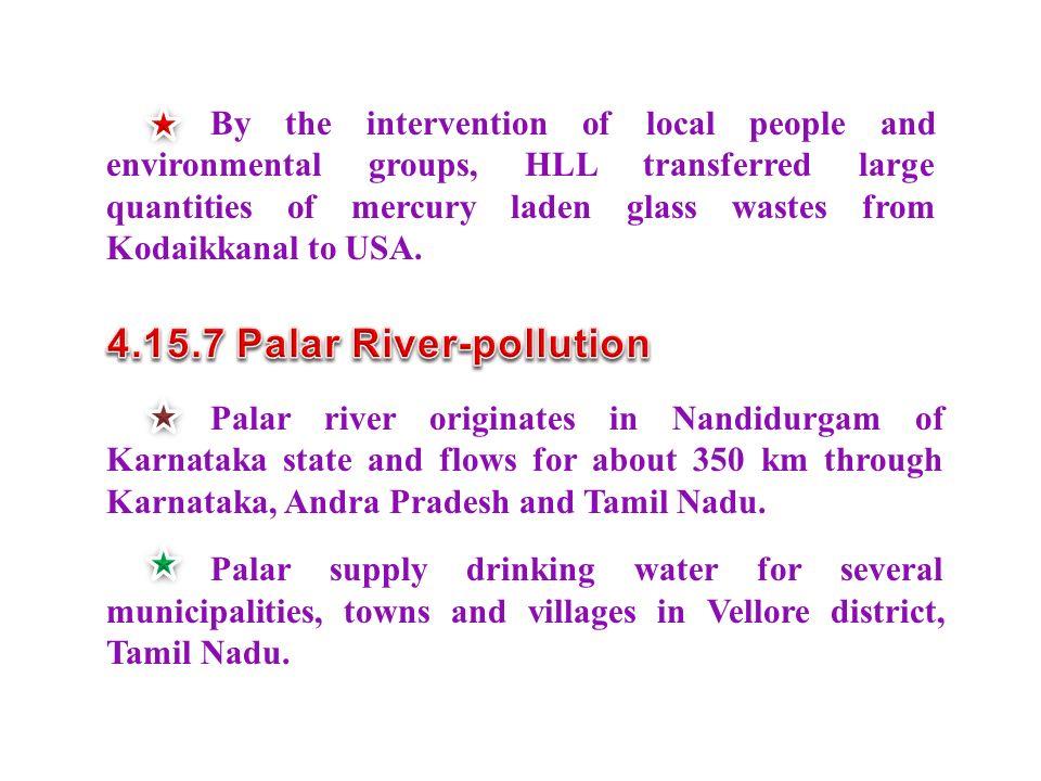 4.15.7 Palar River-pollution