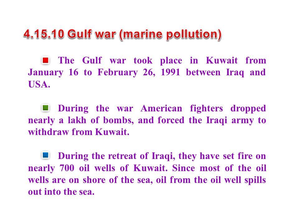 4.15.10 Gulf war (marine pollution)