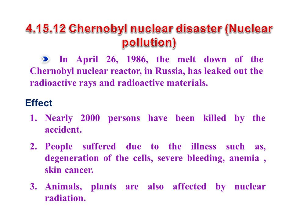 4.15.12 Chernobyl nuclear disaster (Nuclear