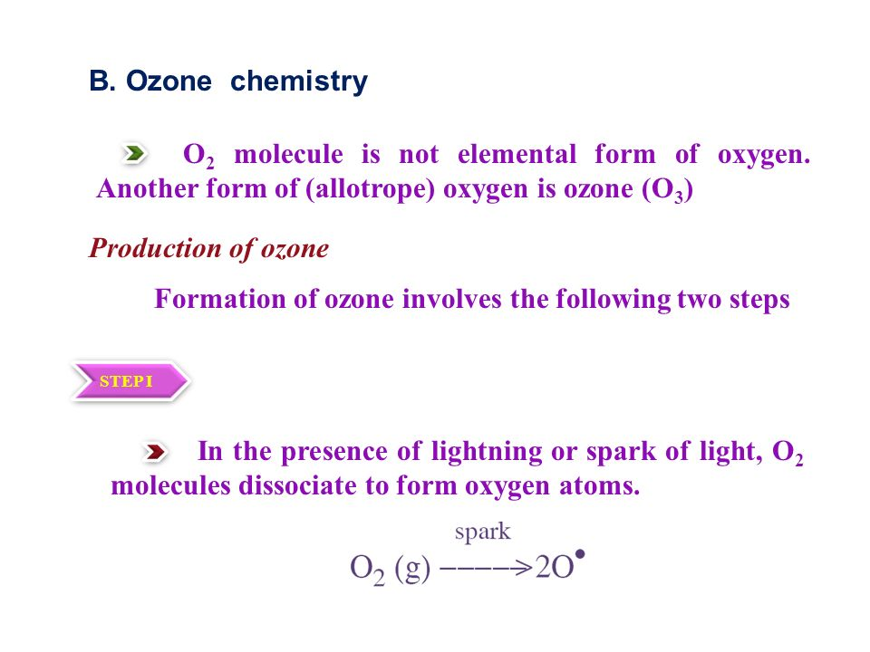 Formation of ozone involves the following two steps