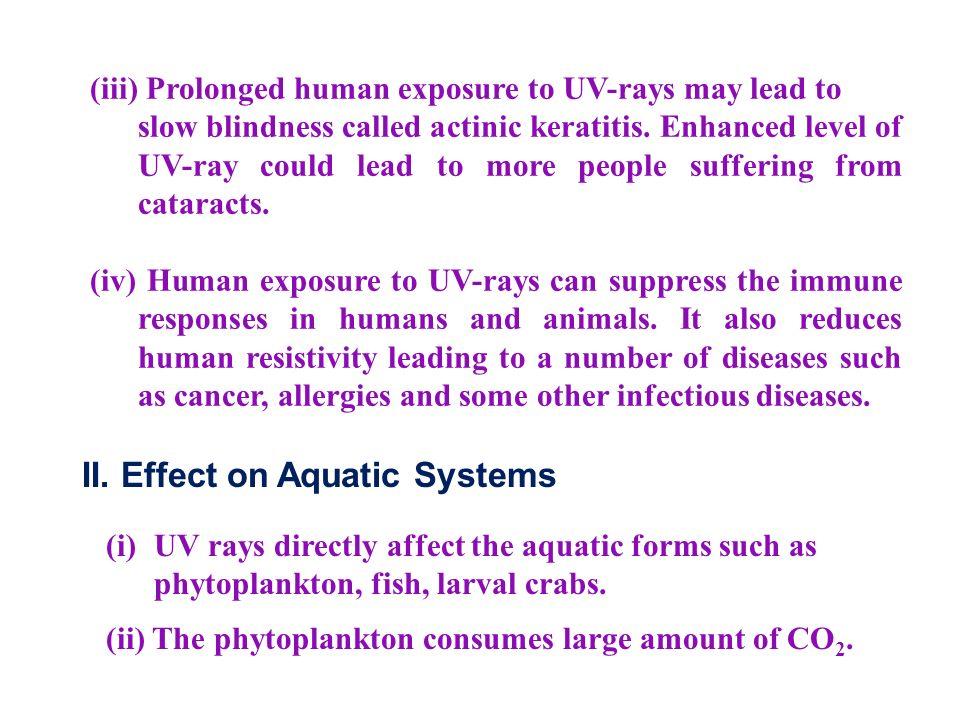 II. Effect on Aquatic Systems