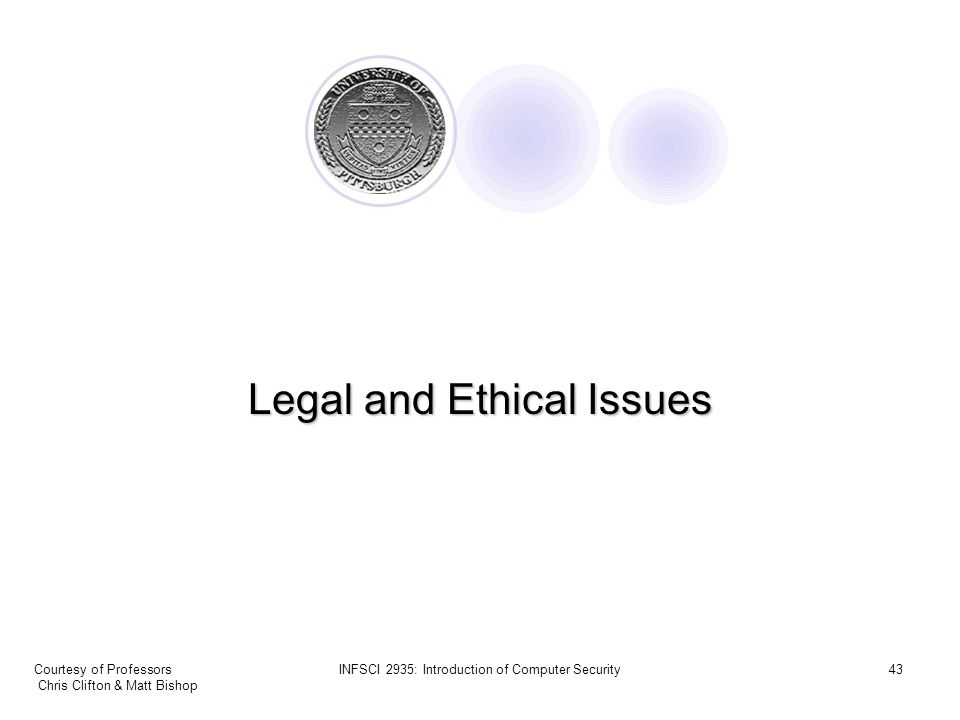 legal ethical and security concerns in This module is about the legal and ethical issues to keep in mind when using social media and thus ensure your research profile is raised for all the right reasons legal & ethical issues pose a risk to national security tip.