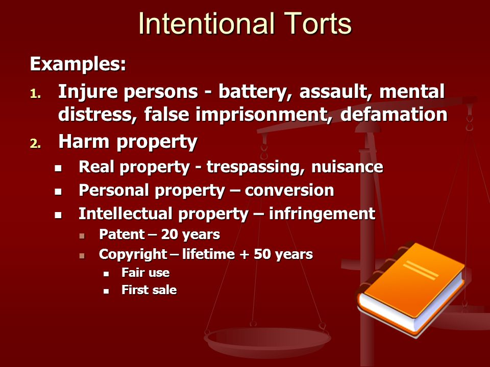 "intentional harm tort hockey The importance of intentional act endorsements to your schooner's cgl policy protects against ""bodily injury,"" however excludes intentional torts."