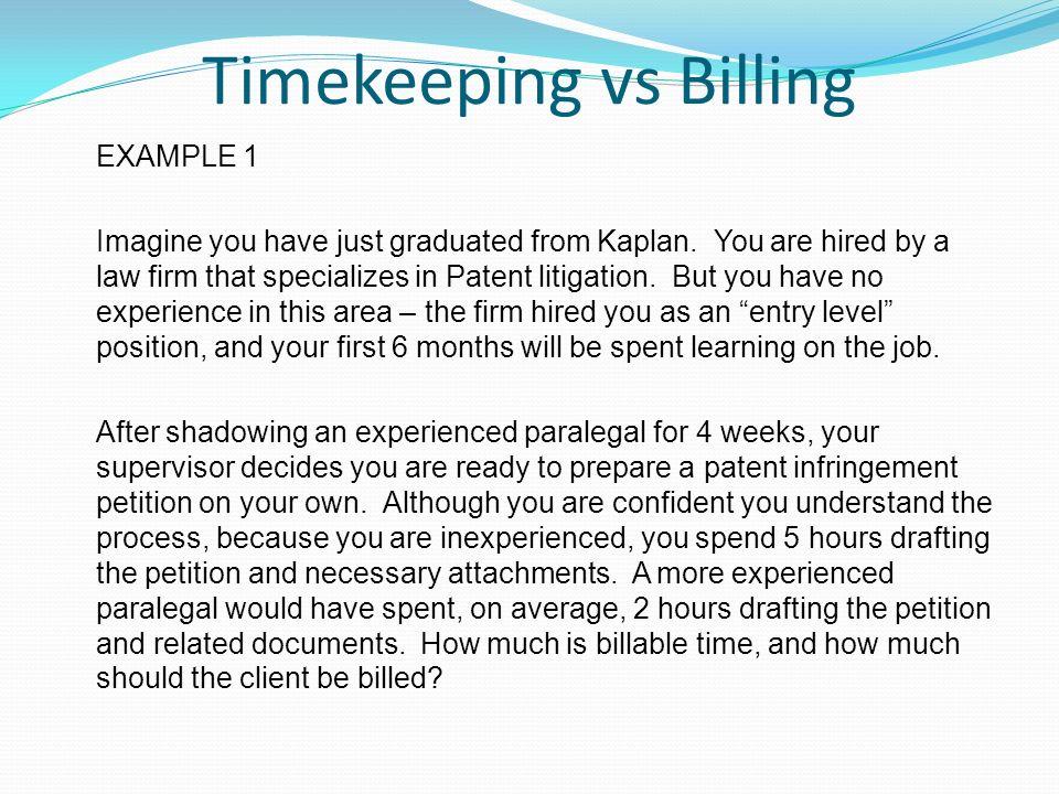 paralegal timesheet