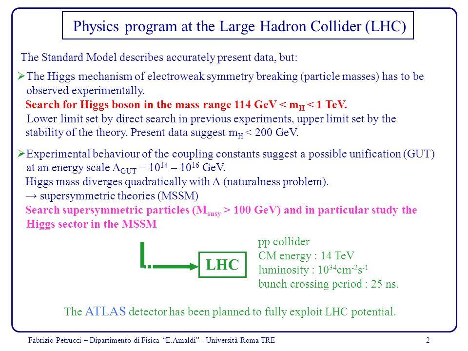 Physics program at the Large Hadron Collider (LHC)