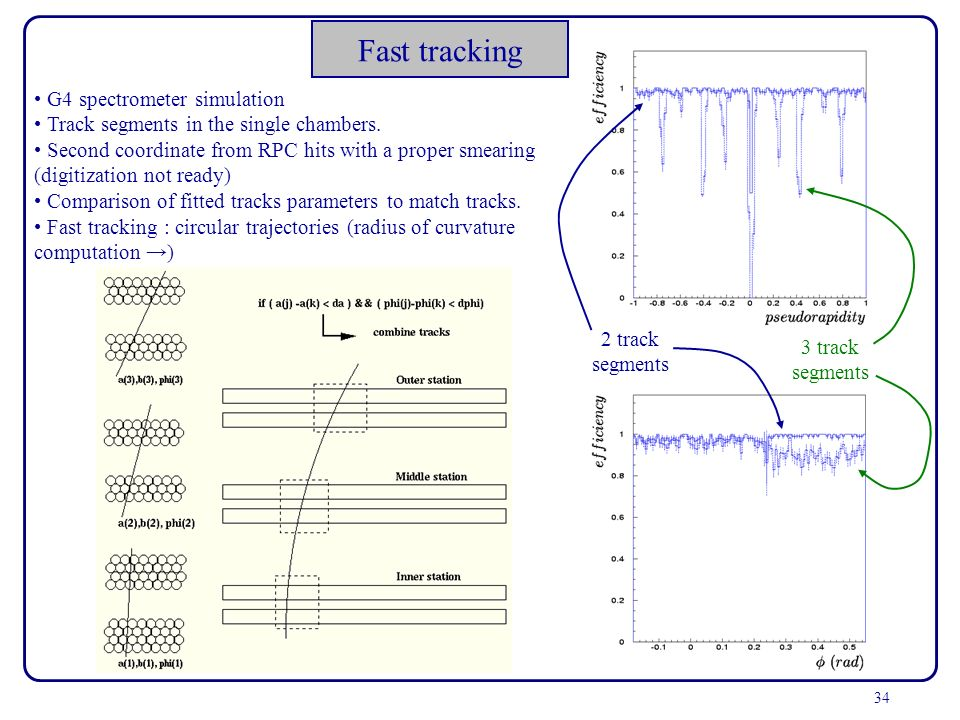 Fast tracking G4 spectrometer simulation