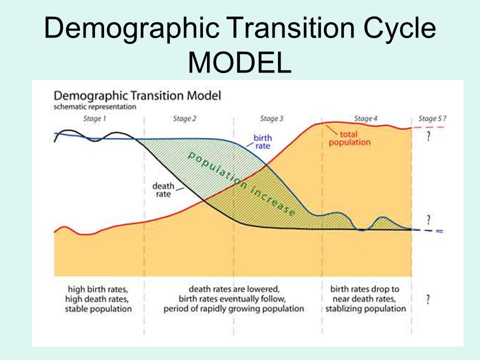 demographic transition from high dirth and On the following text the demographic transition model is a model used to  represent the transition from high birth and death _____ to low birth and death  _____.