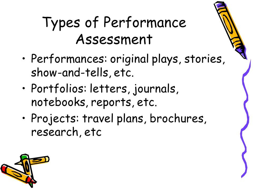 Types Of Performance Assessment