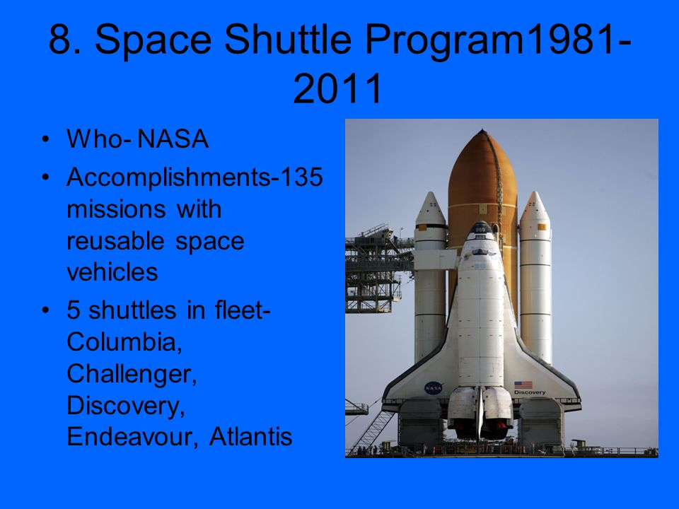 8. Space Shuttle Program