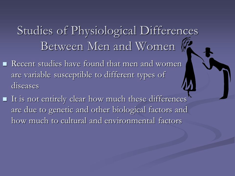 Studies of Physiological Differences Between Men and Women