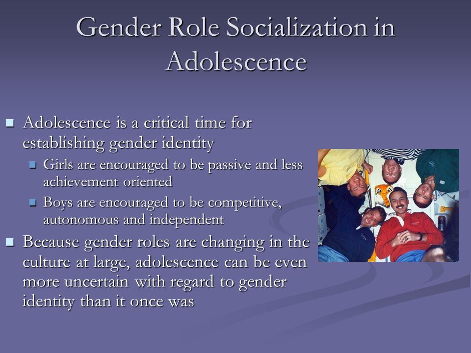 Gender Role Socialization in Adolescence