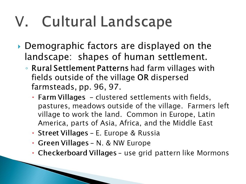defining cultural landscape using five terms What is cultural landscape well-read across five centuries and bourbon street are among the most famous features of louisiana's rich cultural landscape.