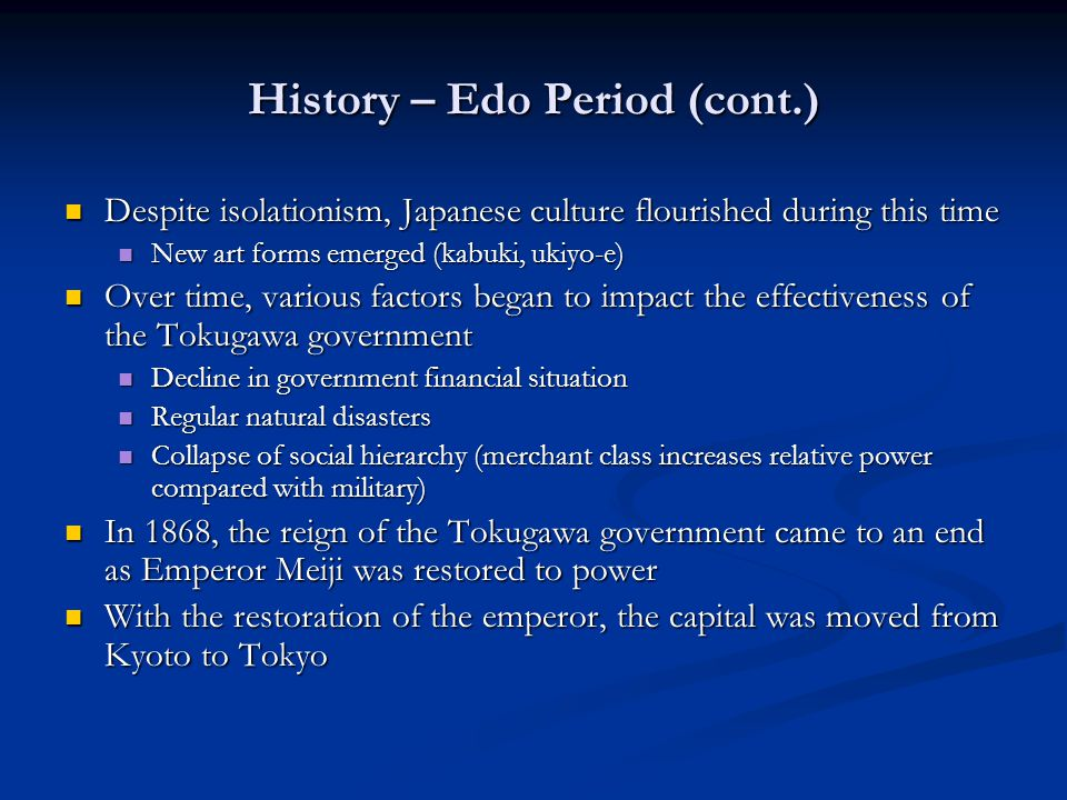 an overview of the japanese culture and morals Despite the numerous educational changes that have occurred in japan since 1868, and especially since 1945, the education system still reflects long-standing cultural and philosophical ideas: that learning and education are esteemed and to be pursued seriously, and that moral and character development are integral to education.