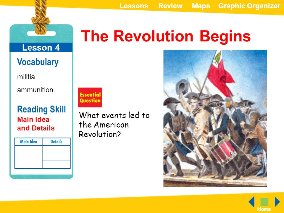 a look at the events that led to the american revolution Process in the first step, you will explore these sites to get some background information about the revolutionary warspecifically look for important historical events that lead to the american revolution.