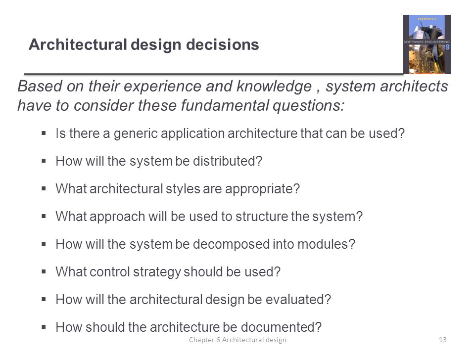 Chapter 6 – Architectural Design - ppt download