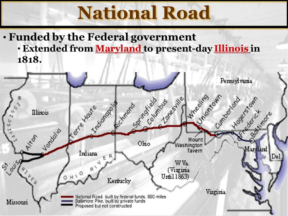 National Road Funded by the Federal government
