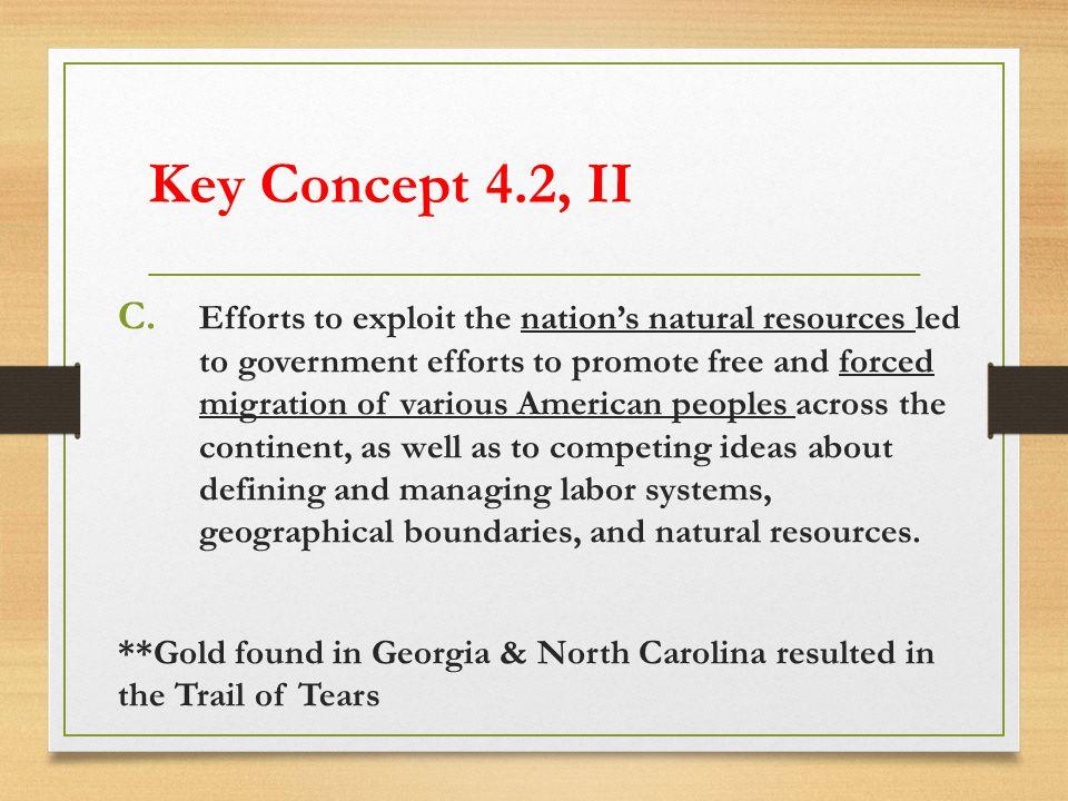 Key Concept 4.2, II