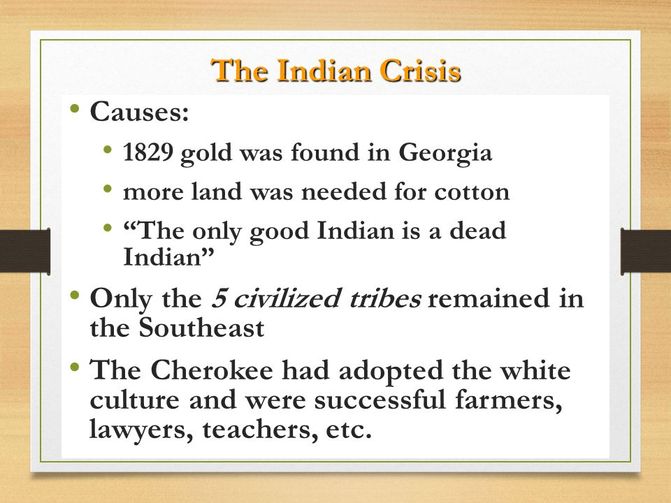 The Indian Crisis Causes: