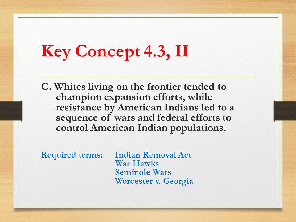 Key Concept 4.3, II