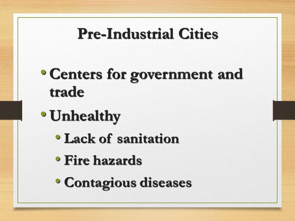 Pre-Industrial Cities