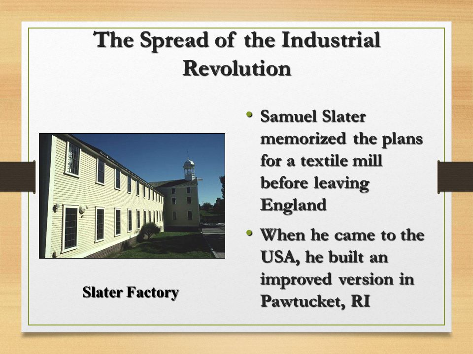 The Spread of the Industrial Revolution