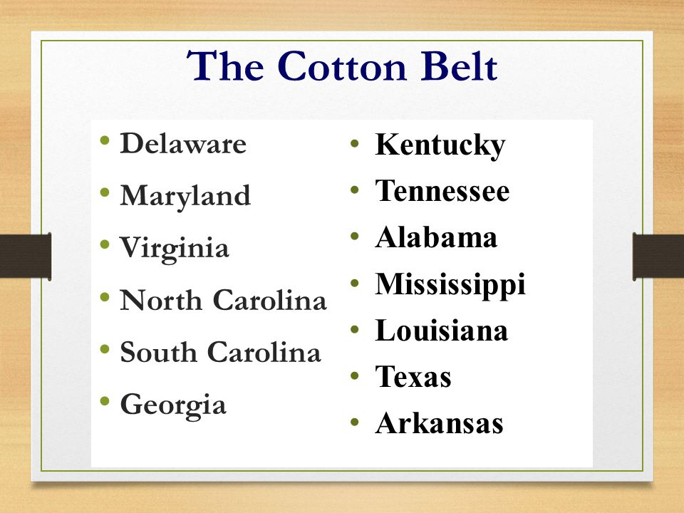 The Cotton Belt Delaware Maryland Virginia North Carolina