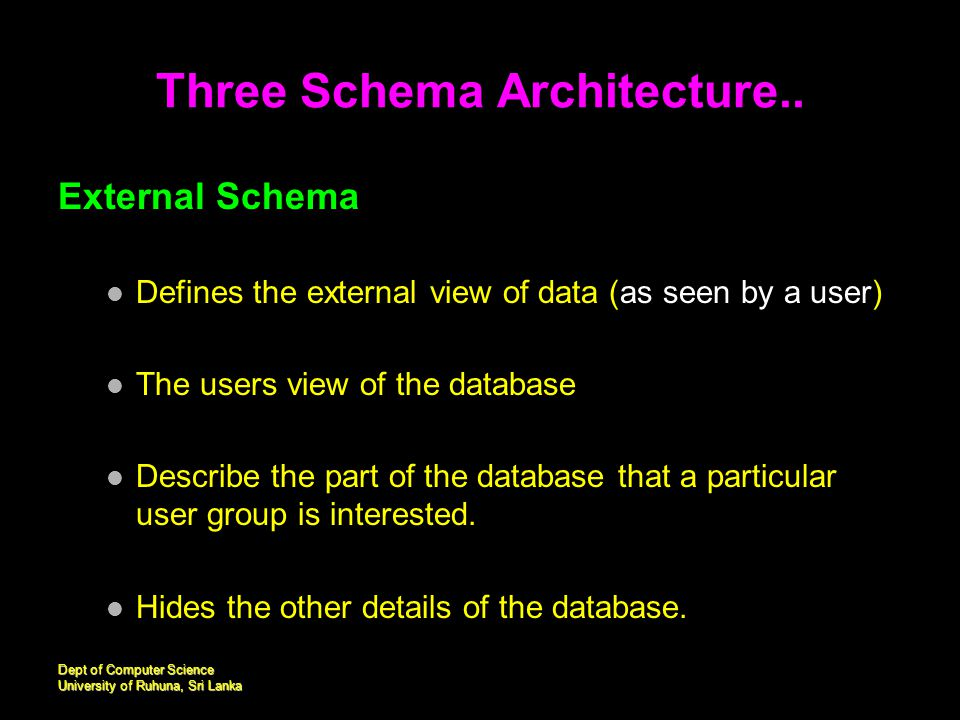 three schema architecture of dbms pdf