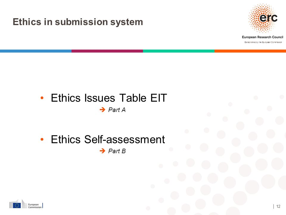 Ethics in submission system