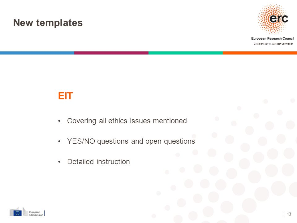 New templates EIT Covering all ethics issues mentioned