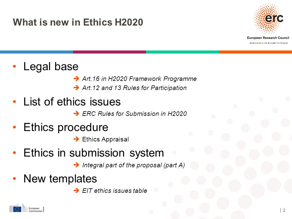 Ethics in submission system New templates