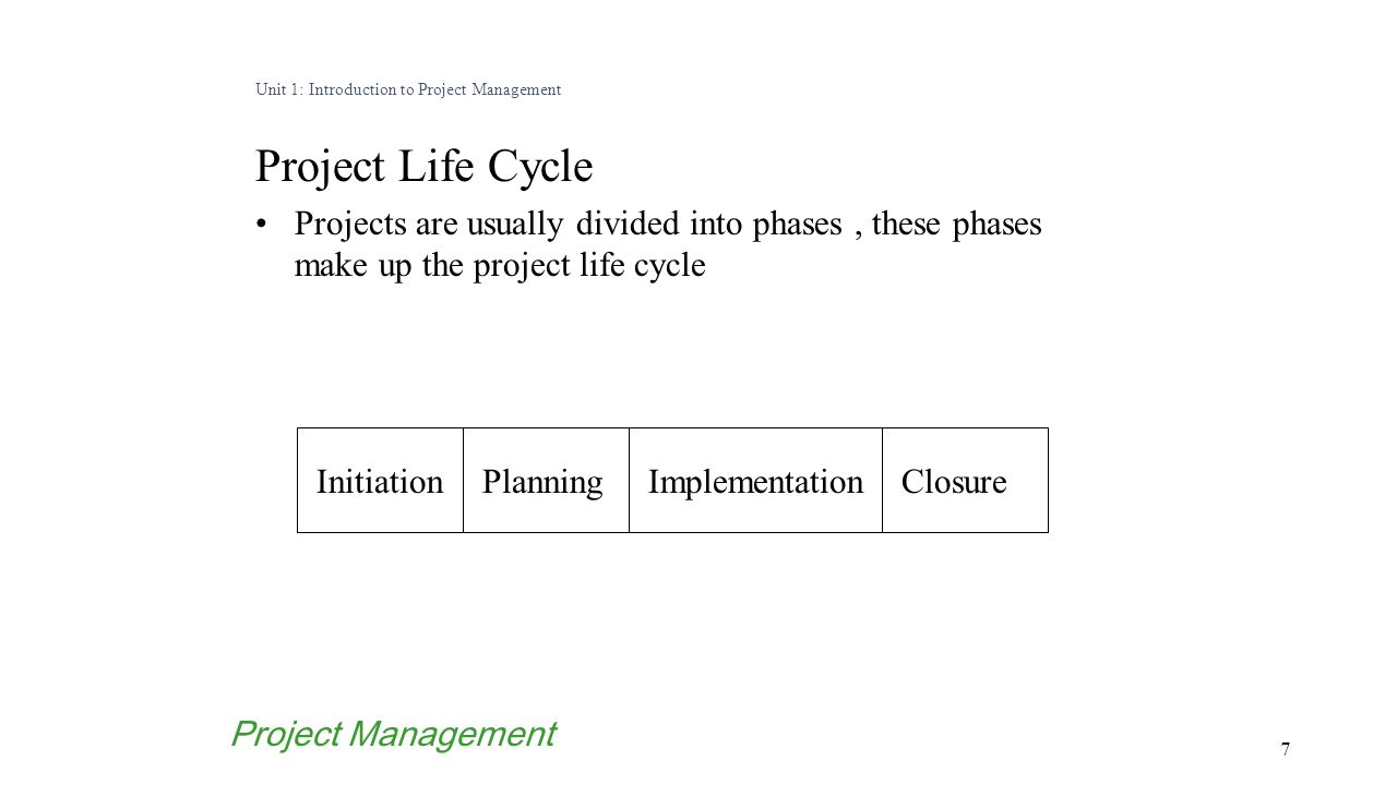 Project planning case study