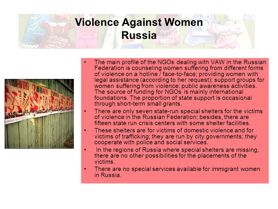 Domestic violence against women in russia