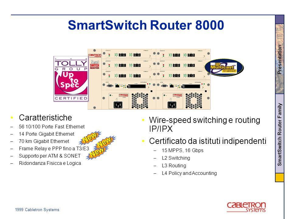 SmartSwitch Router 8000 Caratteristiche