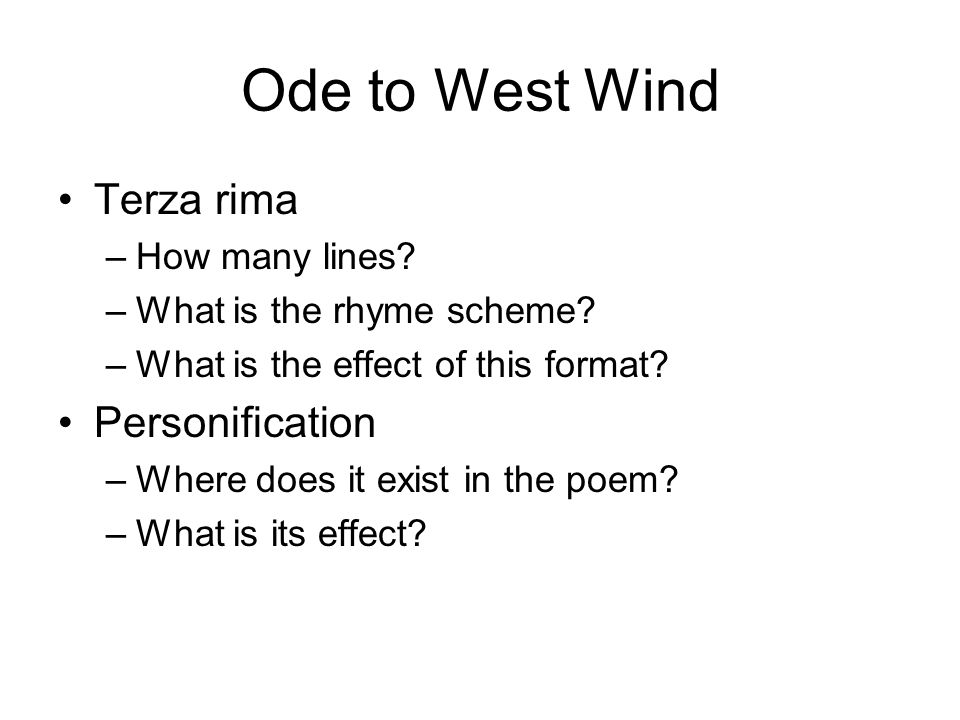 ode west wind